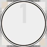 Illustration einer nicht existenten grauen Umweltplakette für die Schadstoffklasse 1