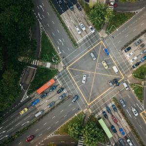Kreuzung mit hohem Risiko für einen Unfall
