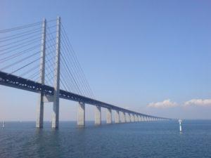 Die Oeresund Brücke in Schweden