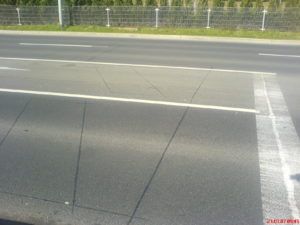 Induktionsschleife unter dem Straßenbelag